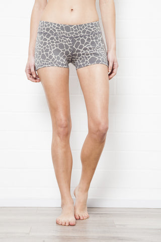 Low Waist Hotpants - Cream Black Zebra - Beach Shorts