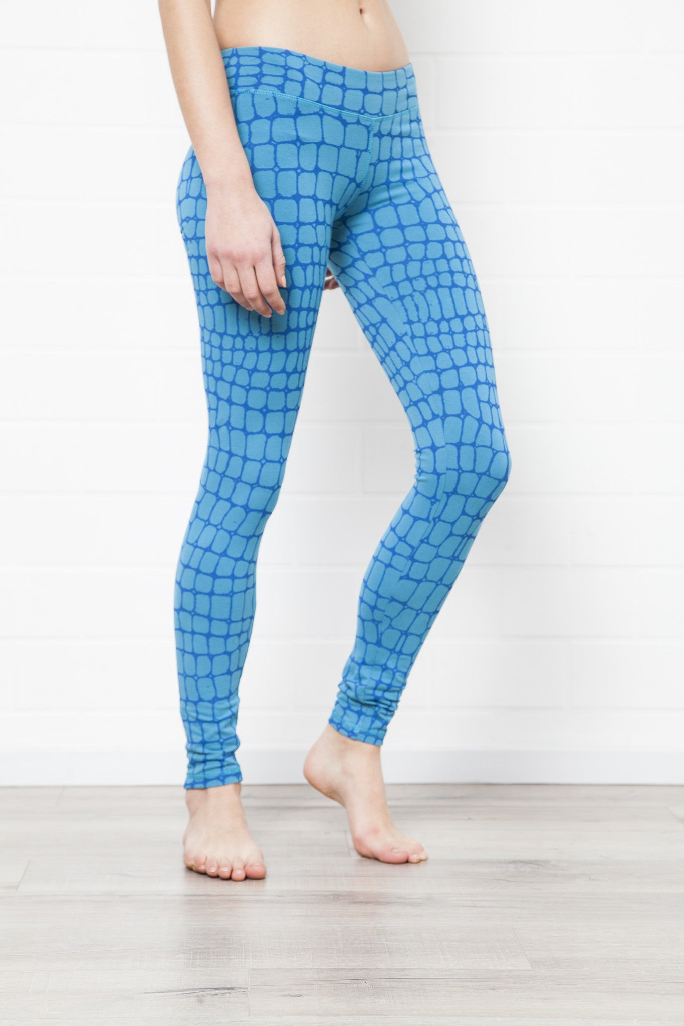 Crocodile Turquoise Leggings Tight - FUNKY SIMPLICITY
