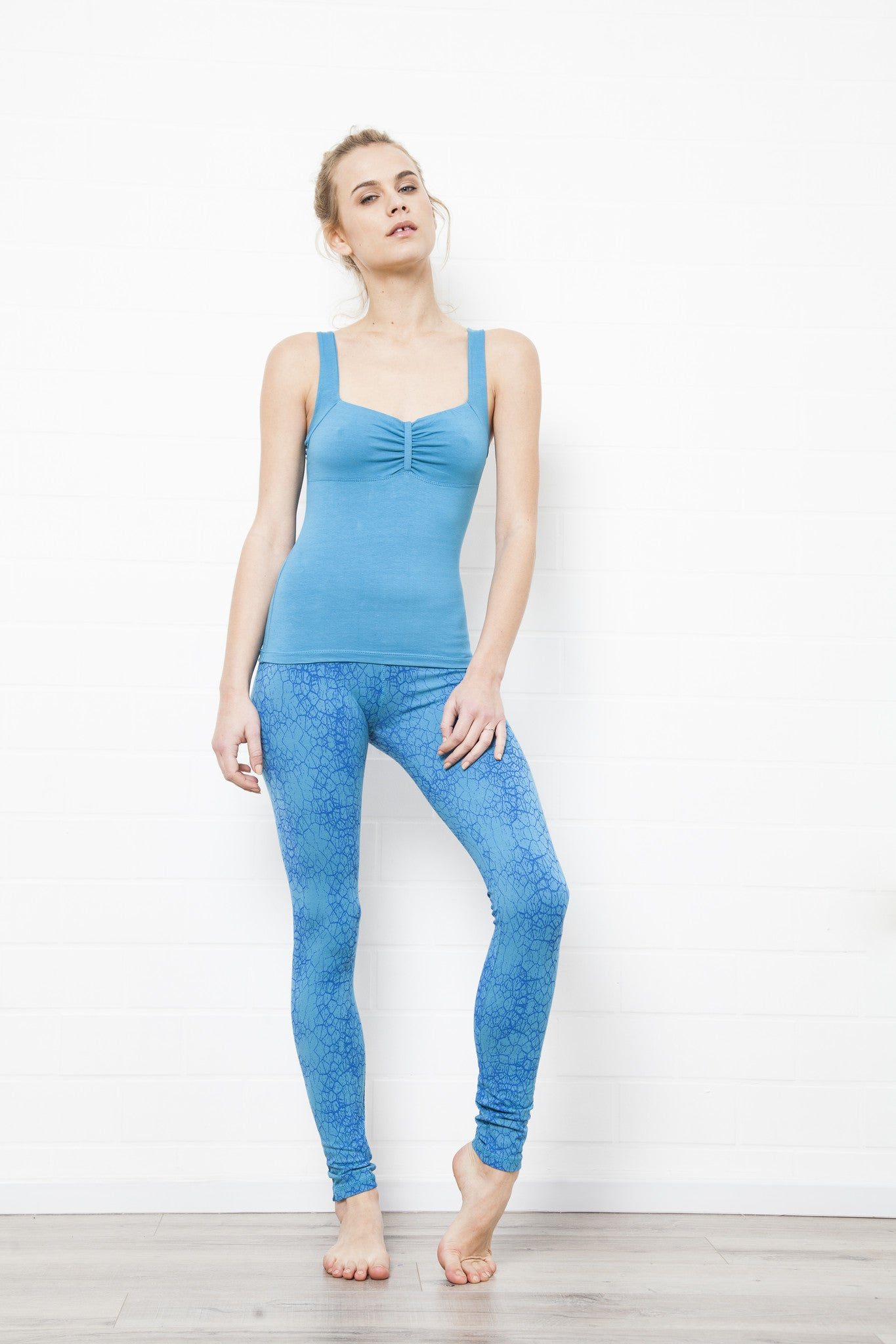 Turquoise Cactus Leggings - Yoga Tights - FUNKY SIMPLICITY