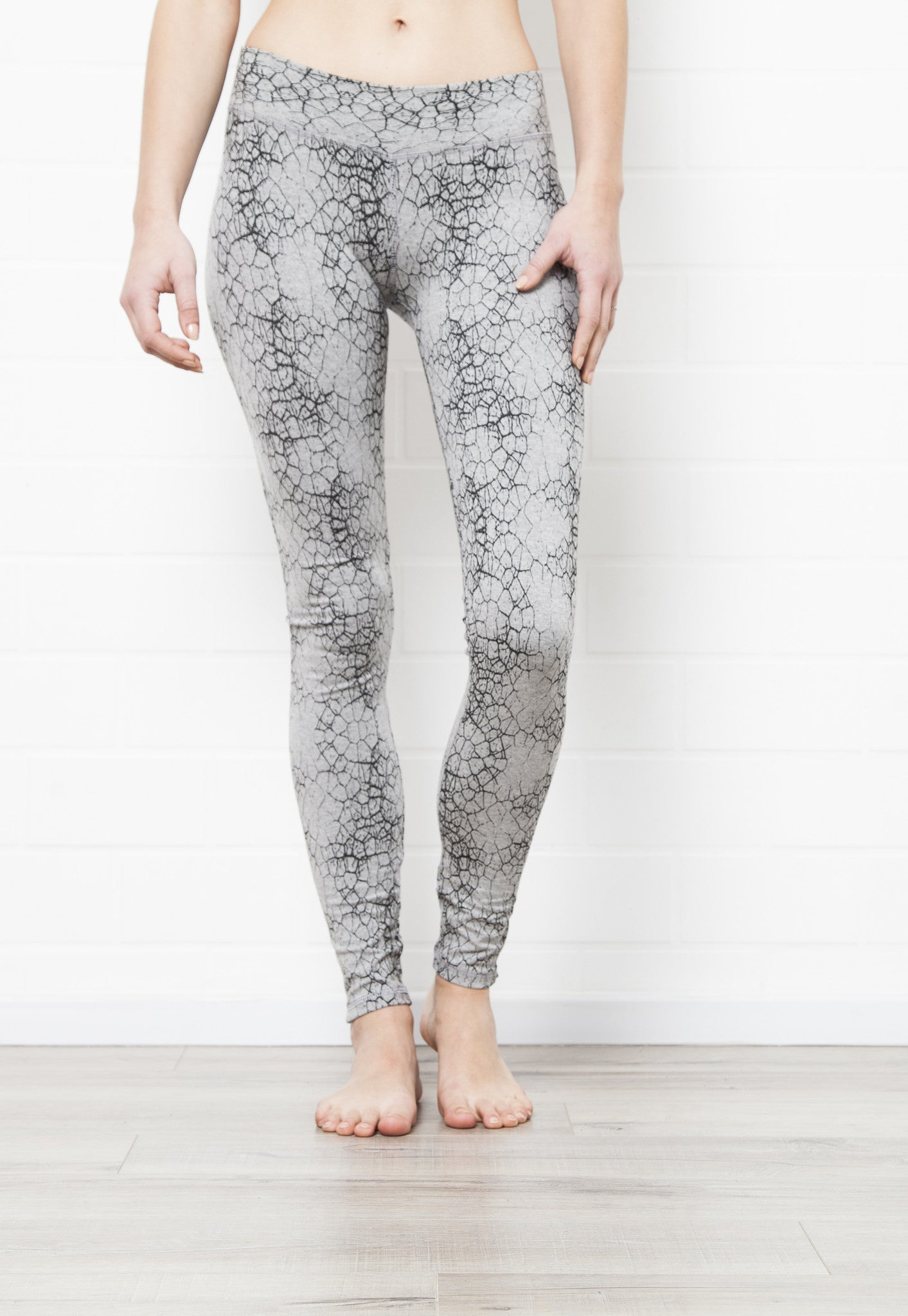 Leggings Cactus Misty Grey Black - FUNKY SIMPLICITY