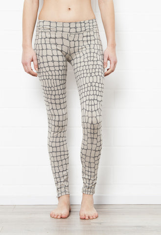 Crocodile Grey Leggings Tight - FUNKY SIMPLICITY