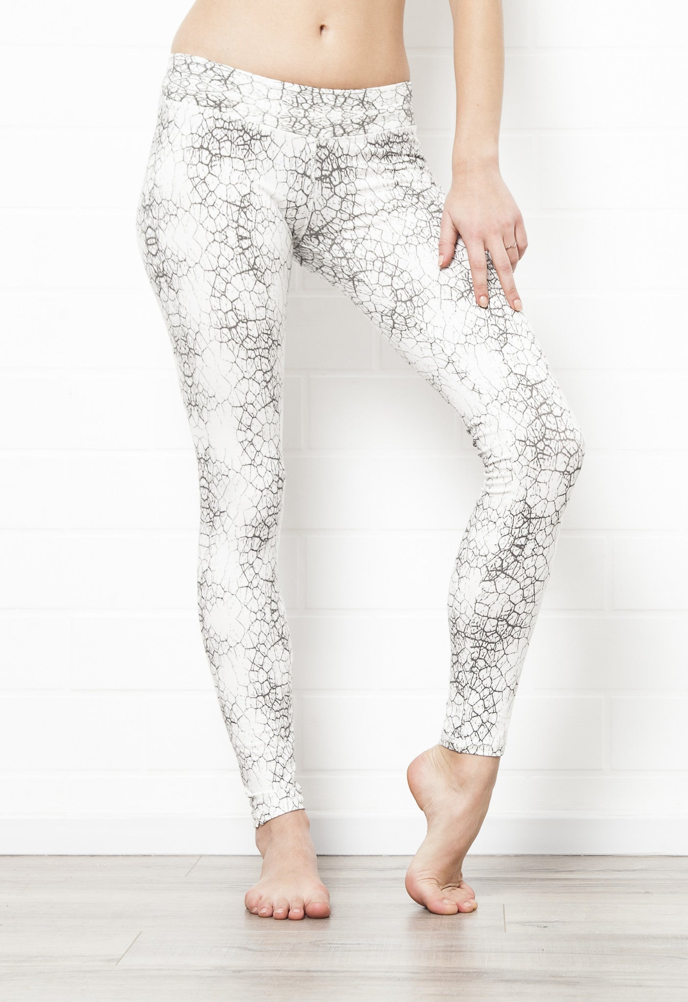 Leggings Cactus Off White Charcoal - FUNKY SIMPLICITY