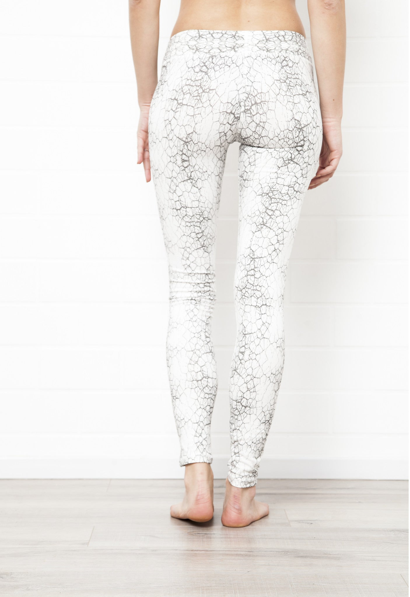 Cactus Off White Leggings Tight - FUNKY SIMPLICITY