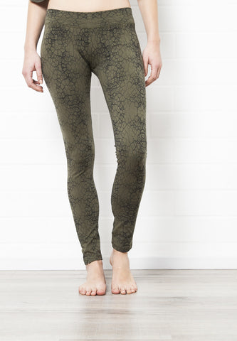 Cactus Olive Leggings Tight - FUNKY SIMPLICITY