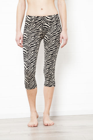 String Back Zebra Top