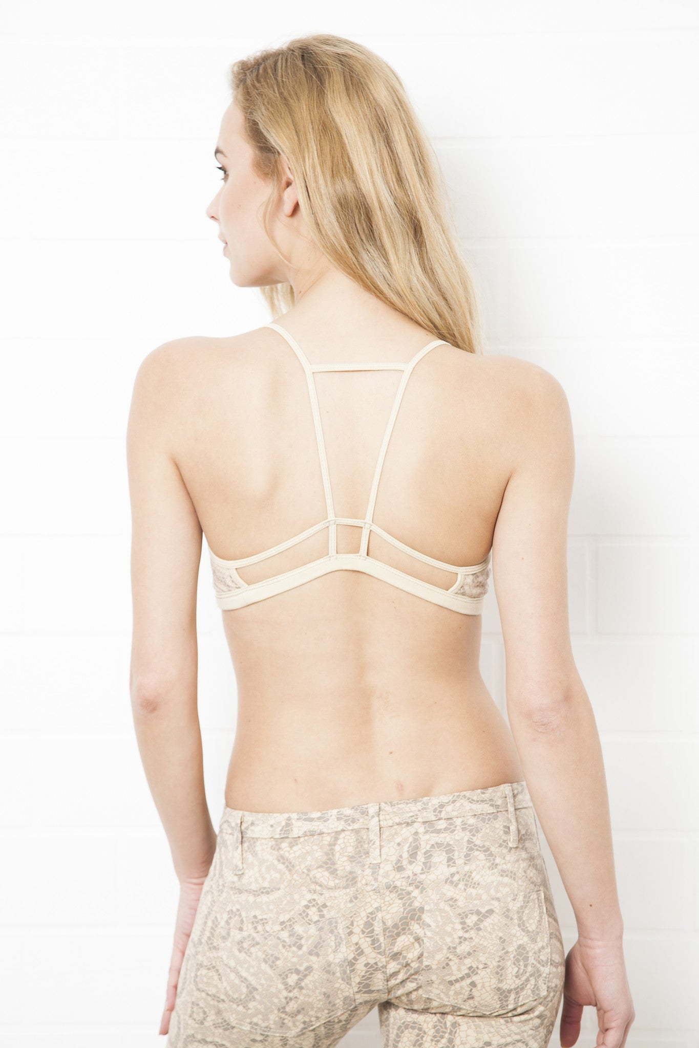String Back Dragon Crop Bra - FUNKY SIMPLICITY