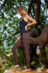 Leggings Snake Brown Black