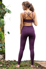 Leggings - Super High Waist - Burgundy