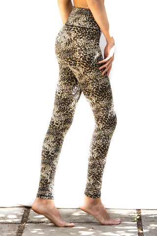 Super High Waist Leggings Tights - Leopard Print - FUNKY SIMPLICITY