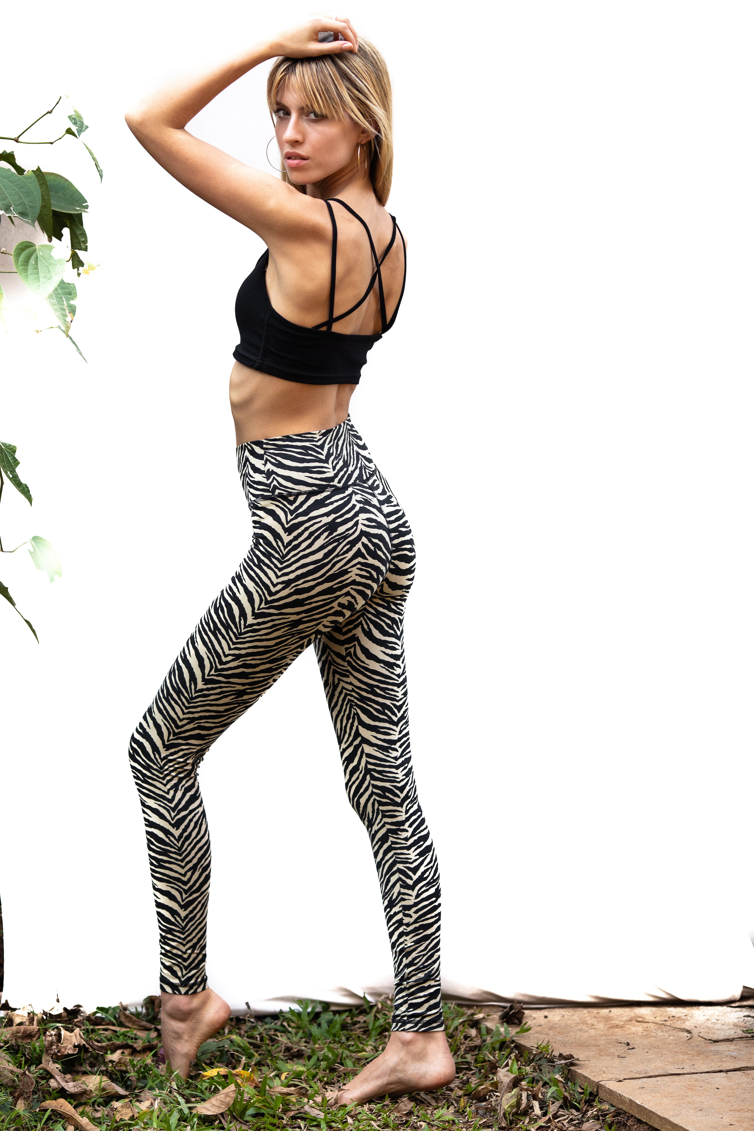 Super High Waist Leggings Tight - Zebra Print - FUNKY SIMPLICITY