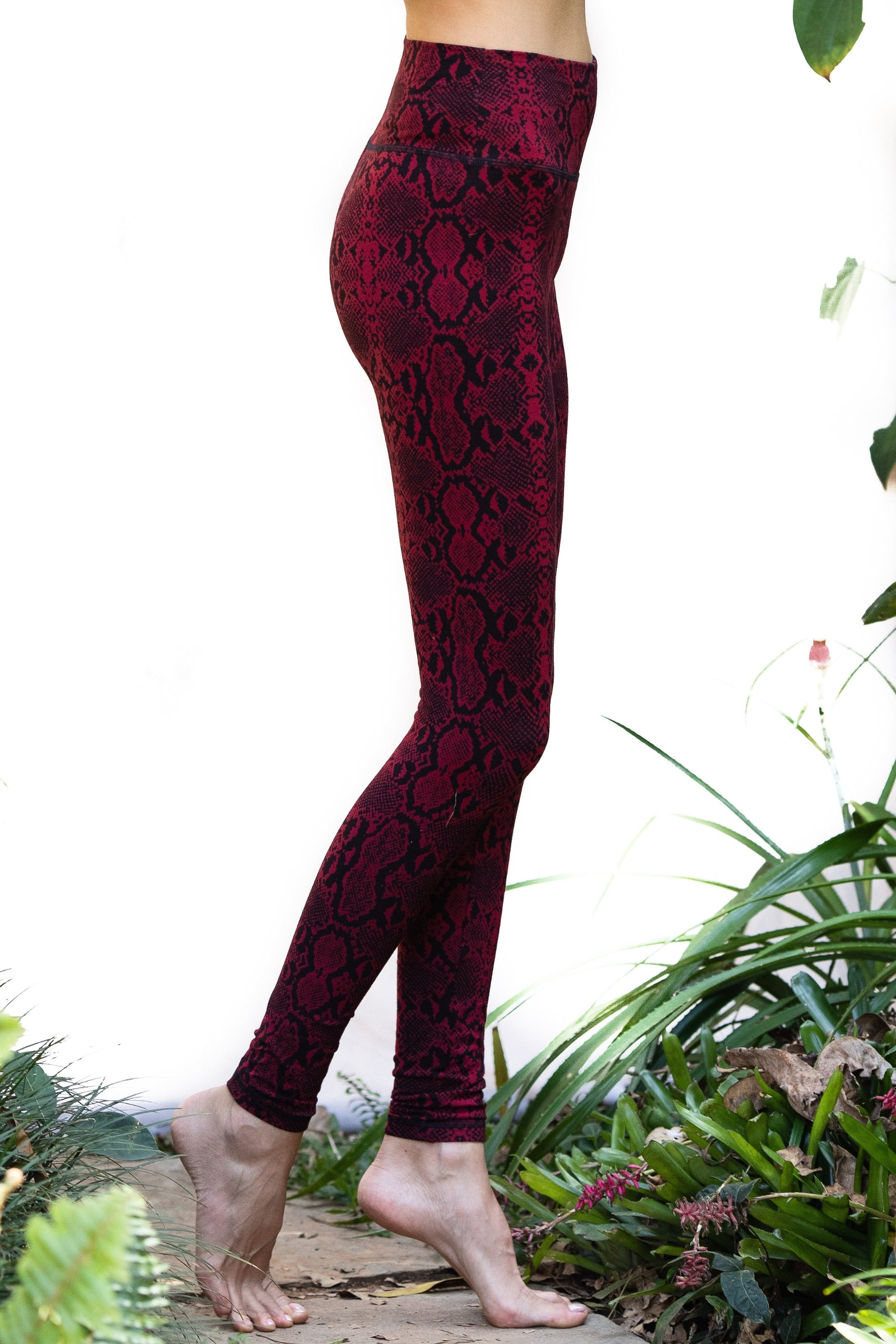 Super High Waist Leggings Tights - Snake Print - FUNKY SIMPLICITY