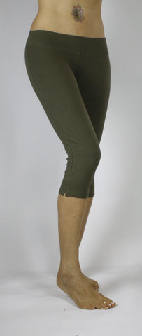 Capri Tights - Olive Green - FUNKY SIMPLICITY