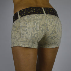 Lycra Jeans Hotpants - Cream Dragon - FUNKY SIMPLICITY