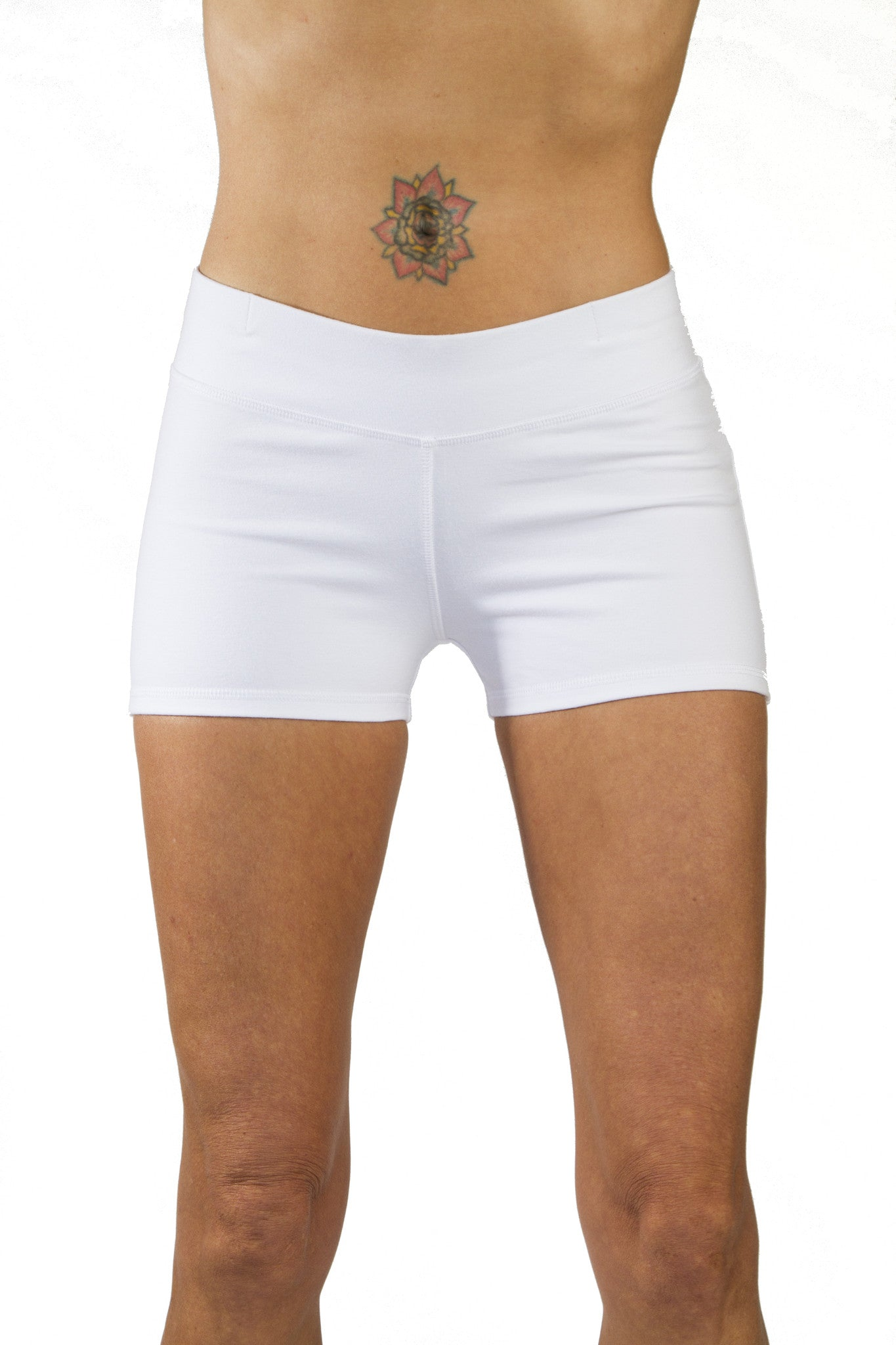 Yoga Hotpants - White - Beach Shorts - FUNKY SIMPLICITY