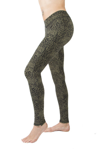 Leopard Olive Leggings Tight - FUNKY SIMPLICITY