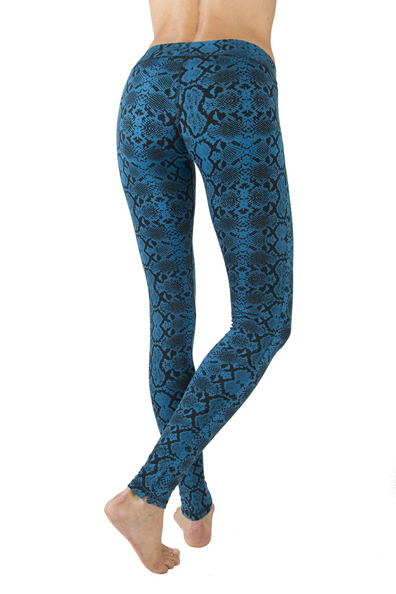 Leggings Snake Turquoise Black - FUNKY SIMPLICITY