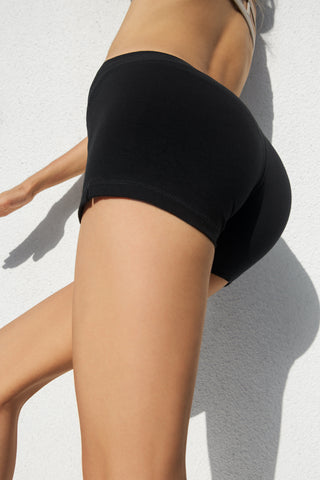 Low Waist Hotpants - Black - Beach Shorts