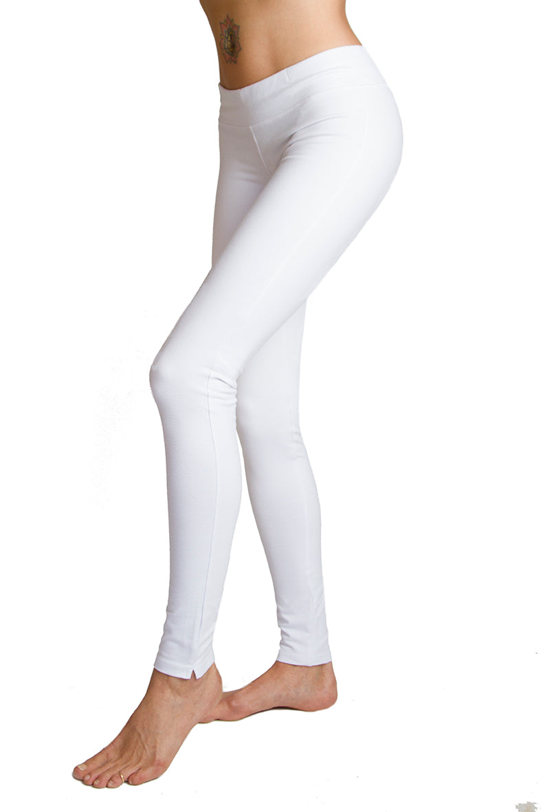 Super High Waist Leggings - White