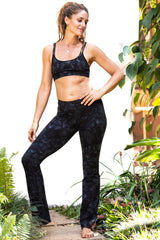 Flared Leggings - Black Smokey - FUNKY SIMPLICITY