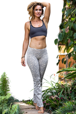 Flared Leggings - Zebra Grey - FUNKY SIMPLICITY