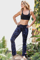 Flared Leggings - Navy Smokey - FUNKY SIMPLICITY