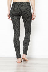 Leggings Zebra Black Green - FUNKY SIMPLICITY