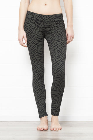 Capri Tights - Zebra Yellow Grey