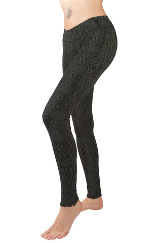 Snake Black Leggings Tight - FUNKY SIMPLICITY