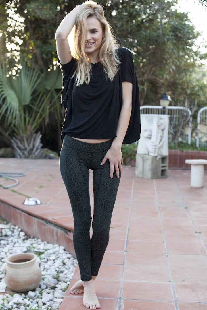 Leggings Snake Black Green - FUNKY SIMPLICITY