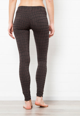 Leggings Crocodile Charcoal Black - FUNKY SIMPLICITY