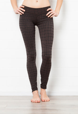 Crocodile Charcoal Leggings Tight - FUNKY SIMPLICITY
