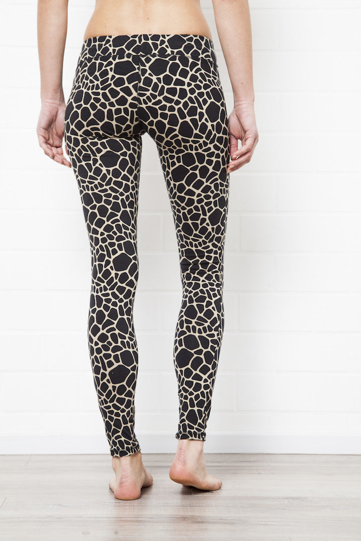 Leggings Giraffe Cream Black - FUNKY SIMPLICITY