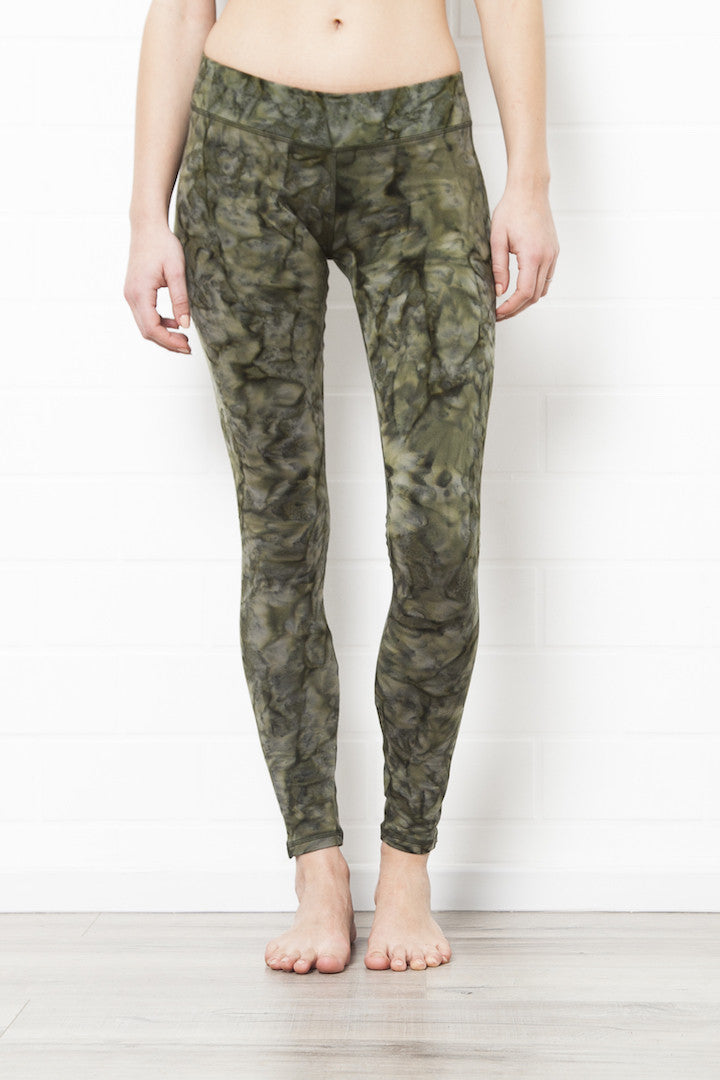 Leggings Smokey Olive Green - FUNKY SIMPLICITY
