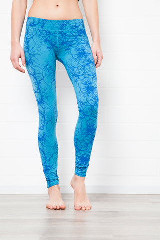 Lightening Turquoise Leggings Tight - FUNKY SIMPLICITY