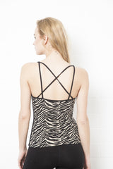 Cross Back Zebra Top - FUNKY SIMPLICITY