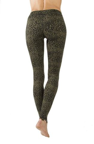 Leggings Leopard Olive - FUNKY SIMPLICITY