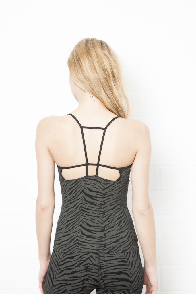 String Back Zebra Top - FUNKY SIMPLICITY