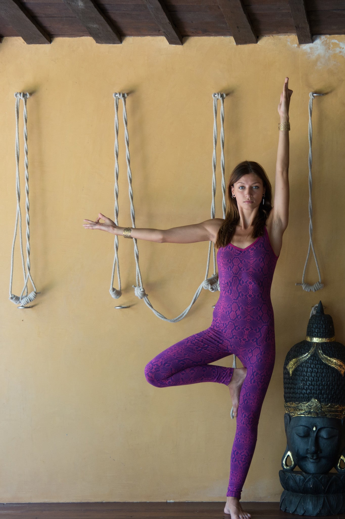 Snake Fuchsia Purple Catsuit - FUNKY SIMPLICITY