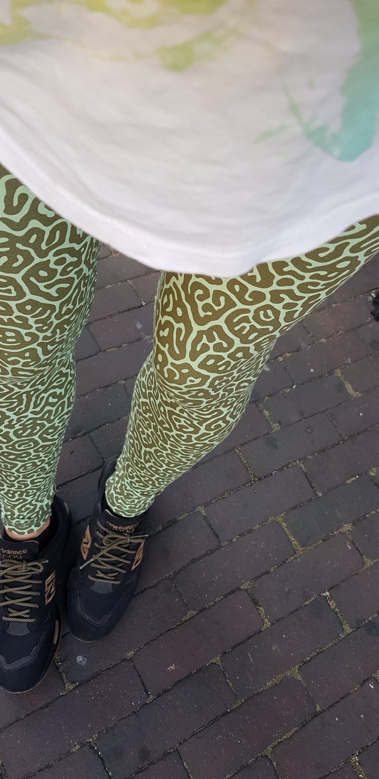 Leggings Green Pufferfish - FUNKY SIMPLICITY