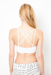 Cross back Black Crop Bra - FUNKY SIMPLICITY