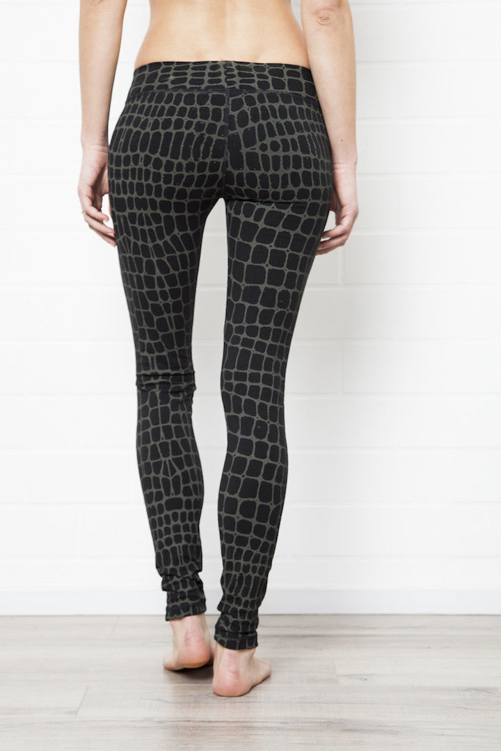 Leggings Crocodile Black Green - FUNKY SIMPLICITY