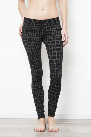 Crocodile Black Leggings Tight - FUNKY SIMPLICITY