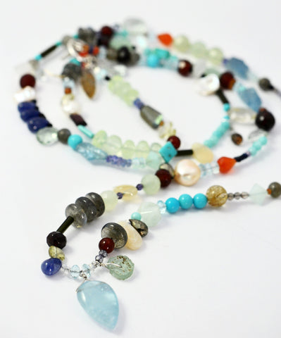 Multi-Gemstone Boho Necklace
