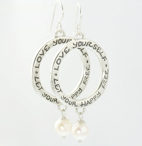 Large Earrings with Pearls