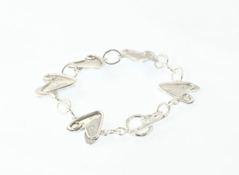 Full Circle Heart Sterling Bracelet