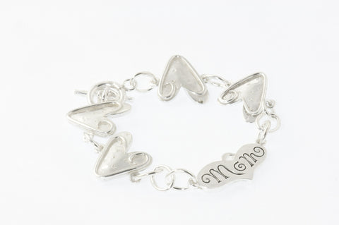 Mom & Heart Sterling Bracelet