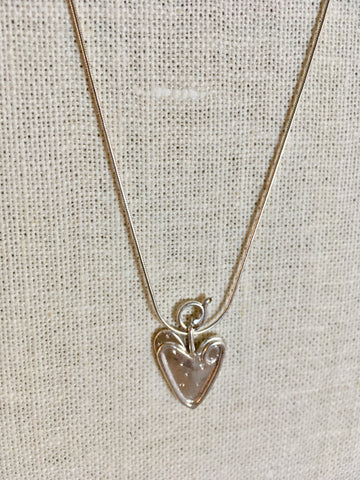 Lead with Your Heart Sterling Silver Necklace