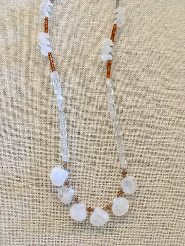 Moonstone, Citrine and Tanzanite Necklace