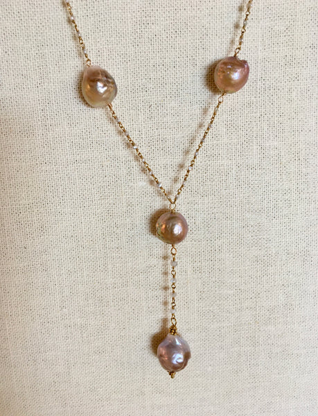 Baroque Pearl Handwrapped Necklace