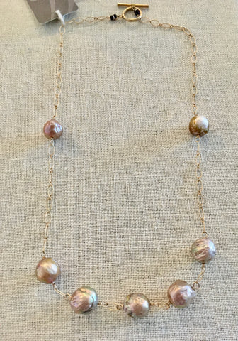 Baroque Pearl Gold Vermeil Necklace